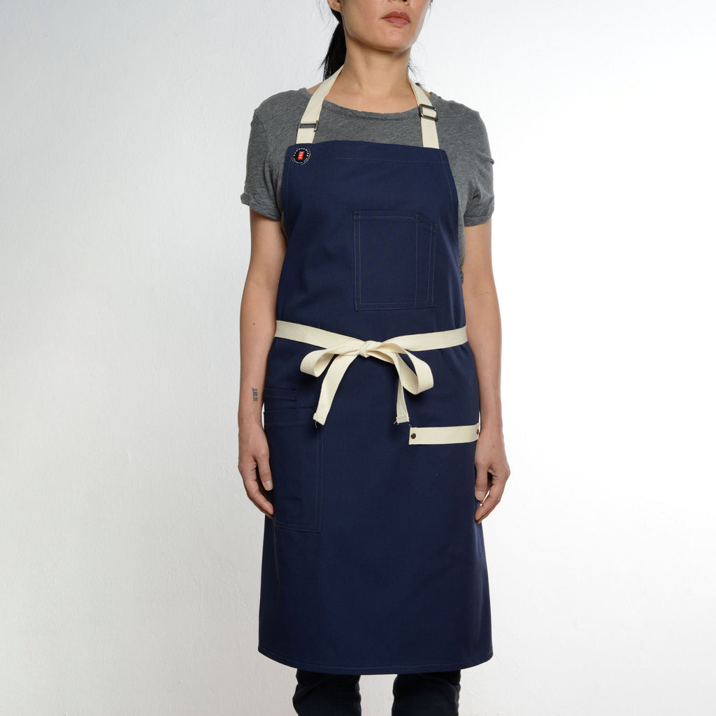 Modernist Navy Apron