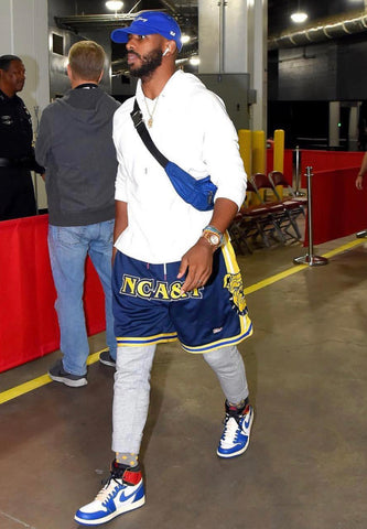 chris paul wearing GOAT shorts