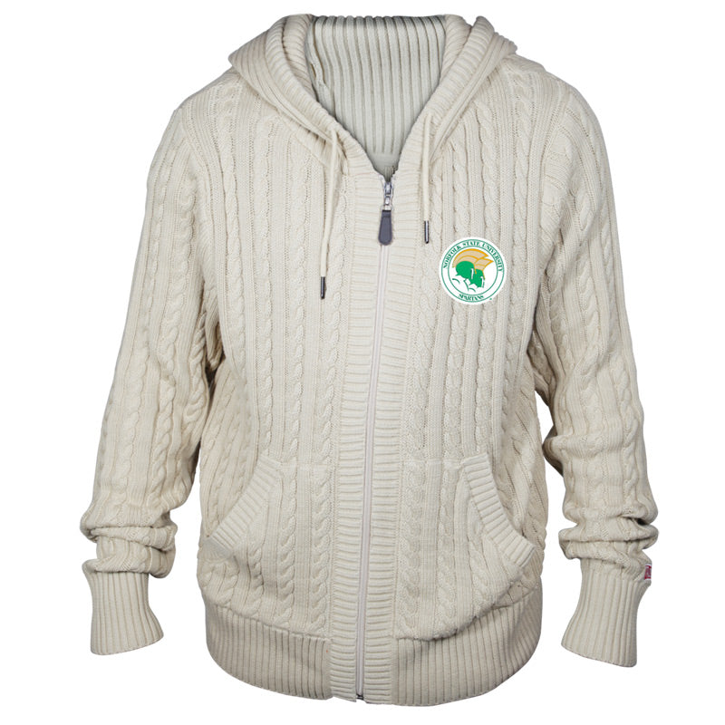 8188bea6 Norfolk State University Kyle Cable Knit Hooded Sweater - HBCU CONNECT  Directory