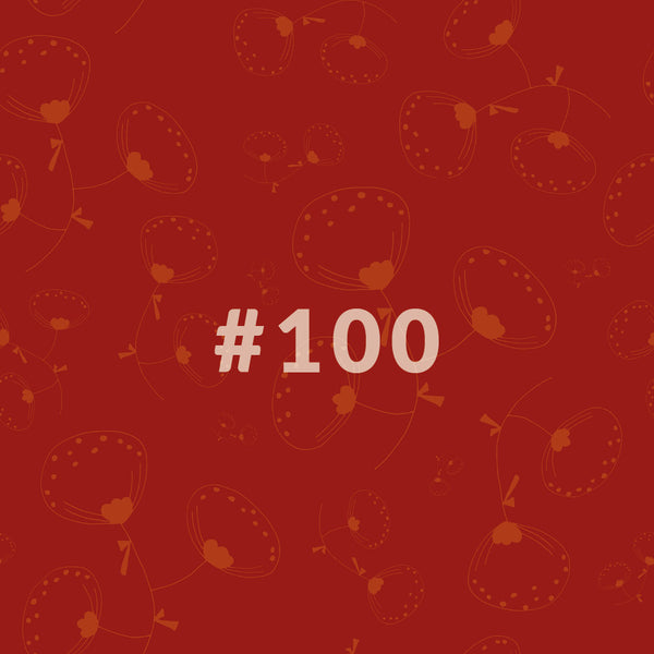 Nr.100 CHENILLE - orange/rot - 1 Lfm