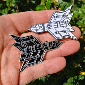 """Endless War"" White and Black Enamel Pins - Regular Edition of 200 sets"