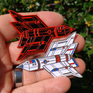 """Endless War"" Blood Red and Patriot Enamel Pins - Edition of 50 sets"