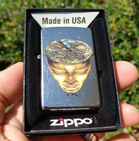 Doomsday Head Zippo Lighter - Silver