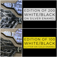 """Endless War"" Enamel Pins - NON-MATCHING #'s Set of 4 (White/Black and Glitters)"