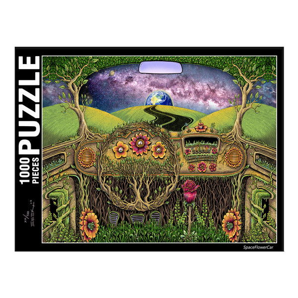 SpaceFlowerCar Puzzle - Limited Edition of 500