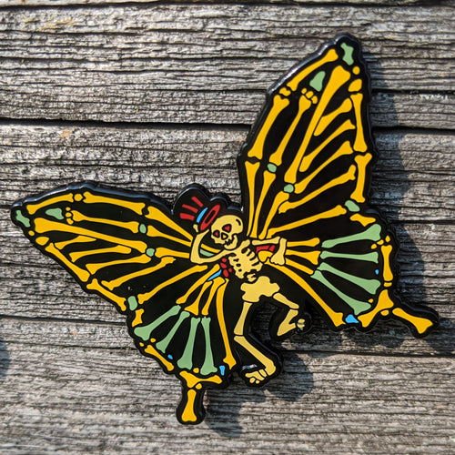 Dead Butterfly Pin (Skeleton) - Open Edition