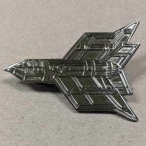 """Endless War"" Raw Metal Pin - Gunmetal Unnumbered"