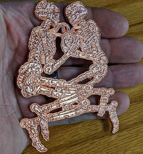Copper Metal Eternal Embrace Enamel Pin