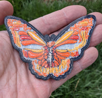 Orange Skull Dead Butterfly Patch - Open Edition