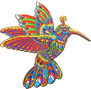 EMEK x BIOWORKZ Hummingbird Pin v.1 (Edition of 100)