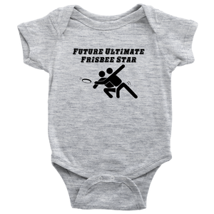 Ultimate Frisbee Baby | Ultimate Frisbee Baby Onesie | Future Ultimate Frisbee Star Diaper Shirt | Gift for Ultimate Frisbee Players - Kennie Blossoms