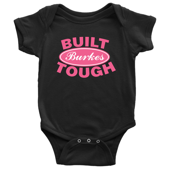Built Tough Personalized Baby Onesie for Girls - Kennie Blossoms