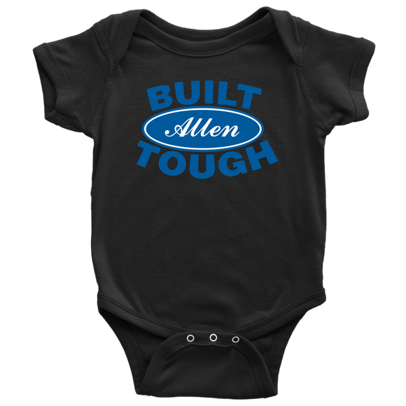 Built Tough Custom Baby Onesie Black or White - Kennie Blossoms