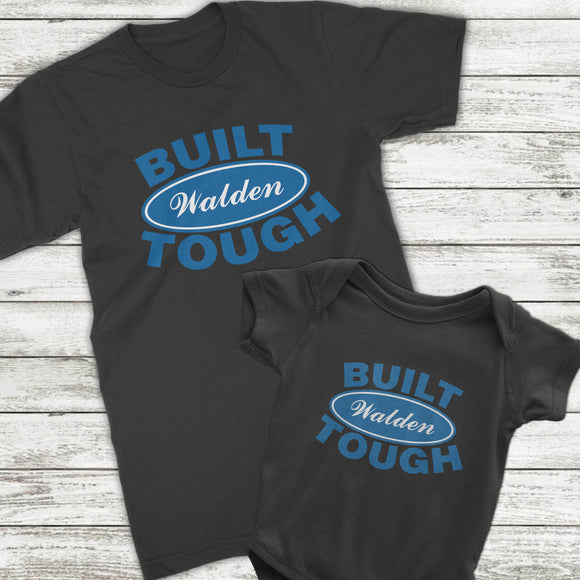 Personalized Dad and baby son matching shirt and onesie for car and truck enthusiasts or mechanics - Kennie Blossoms