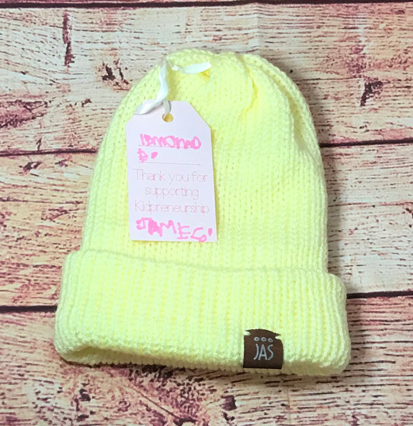 Lemonade double thick knit hat