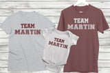 'Team' Your Surname Family T Shirt Set - Kennie Blossoms