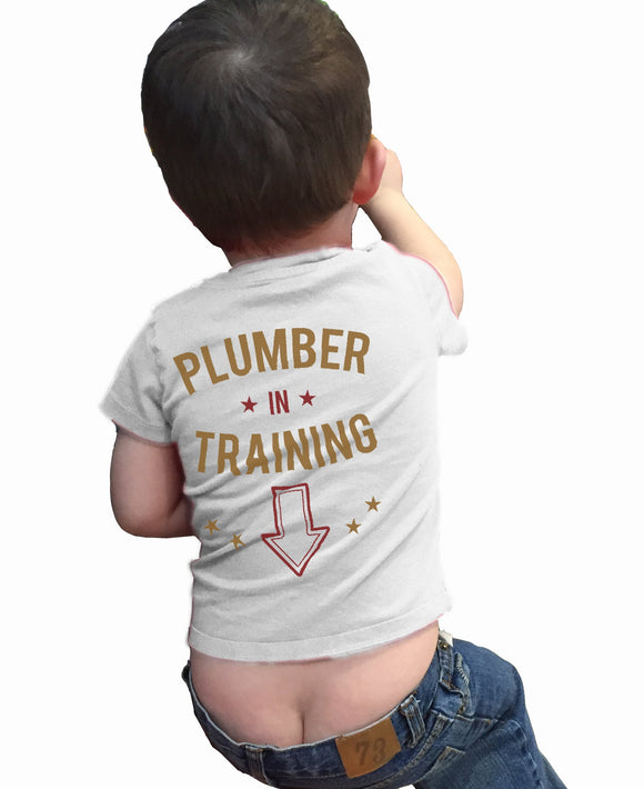 Plumber in Training Funny shirt for Toddler or Child - Kennie Blossoms