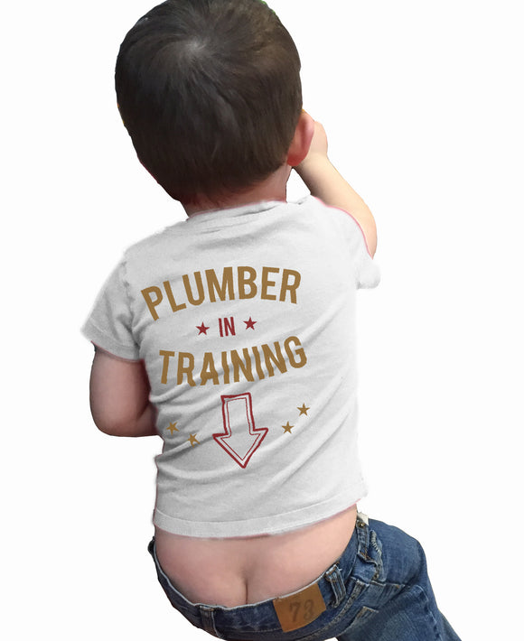 Plumber in Training Funny Shirt for Baby - Kennie Blossoms