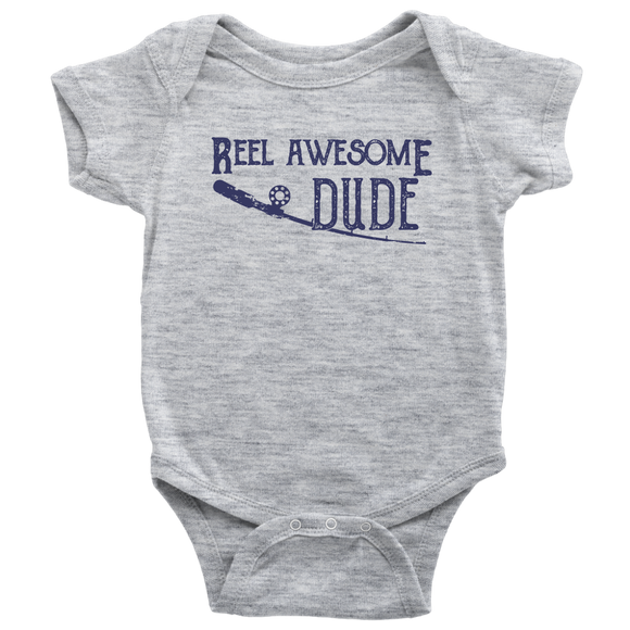 Fly Fishing Baby Onesie - Reel Awesome Dude - Kennie Blossoms