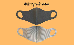 Antibacterial Waterproof Face Mask - Large or Small