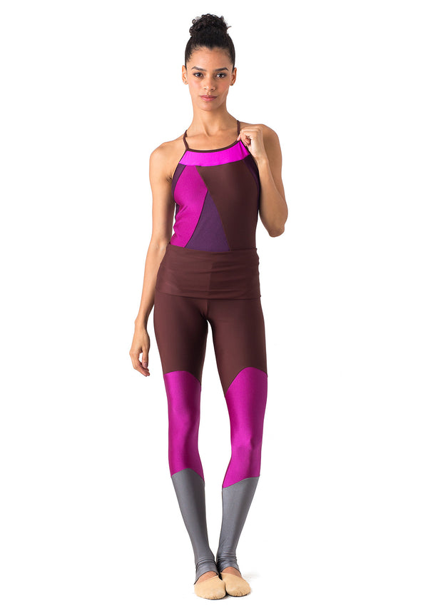 Legging Color Block Mogno - 1