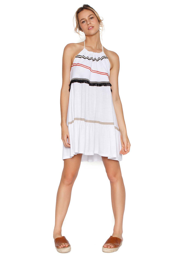 2Peace2Dance Vestido Star Off White