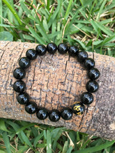 Obsidian men's wrist mala 12mm