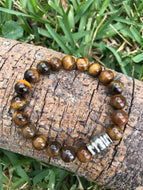 Tiger Eye men's wrist mala 10mm