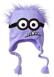 PURPLE Minion Despicable Me ~ Laplander Hat