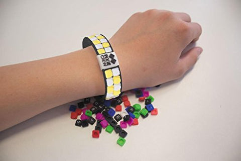 PIXIE CREW Very Unique Pixels Decorated Adjustable Friendship Wristband - Black