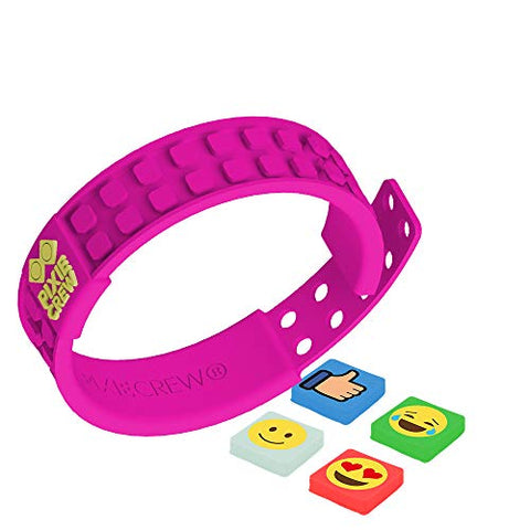 PIXIE CREW Very Unique Pixels Decorated Adjustable Friendship Wristband - Fuchsia