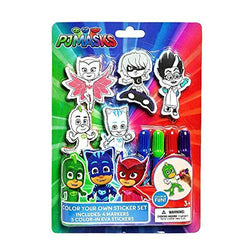 Pj Masks Color Your Own Sticker Set(1)