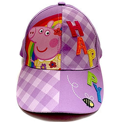 "Peppa Pig Purple ""Happy"" Baseball Cap"