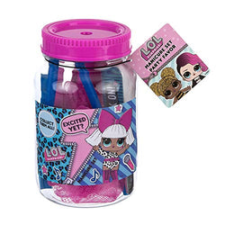 LOL Surprise Party Supplies, Party Favors Collection - Mason Jar Manicure Set