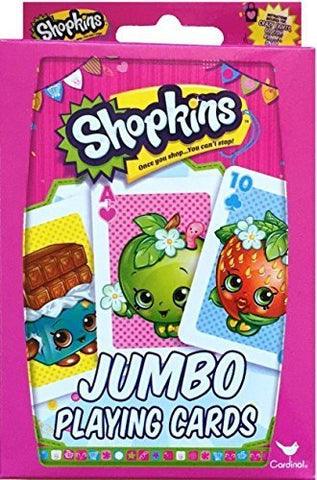 Shopkins Jumbo Playing Cards Once You Shop You Can't Stop