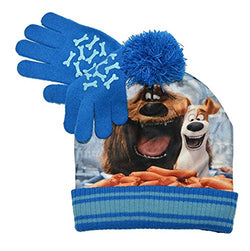 The Secret Life Of Pets Seeing Sausages Beanie And Glove Set (One size, Blue)
