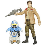 Hasbro Year 2015 Star Wars The Force Awakens Armor Up Series 4 Inch Tall Figure - POE Dameron (B3893) with Blaster Rifle and X-Wing Pilot Gear