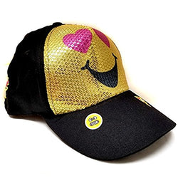 Emoji Gold Sequin Children Baseball Cap -Age 5~10
