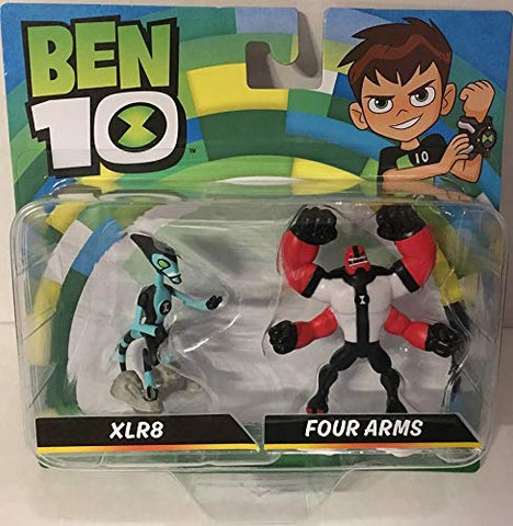 Ben 10 XLR8 & Four Arms Mini Figure 2 Pack