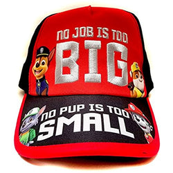 "Nickelodeon Paw Patrol ""No Job No Pup"" Kids Children Boys Baseball Cap -Age 4 ~ 10"