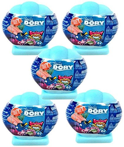 Disney / Pixar Finding Dory Squishy Pops Series 1 LOT OF 5 Capsules