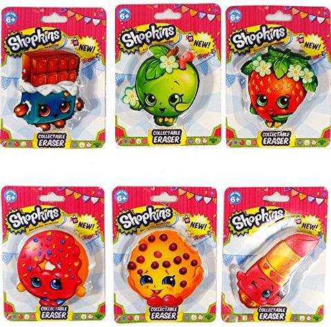 Shopkins Collectable Erasers Set