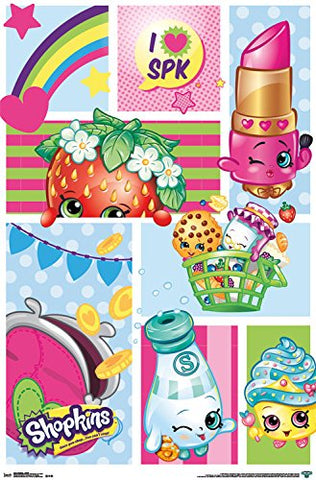 "Trends International Shopkins Collage Wall Poster 22.375"" x 34"""