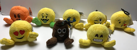 Emoji Plushiez version 1.0 Set of 8 Clip-on Hangers