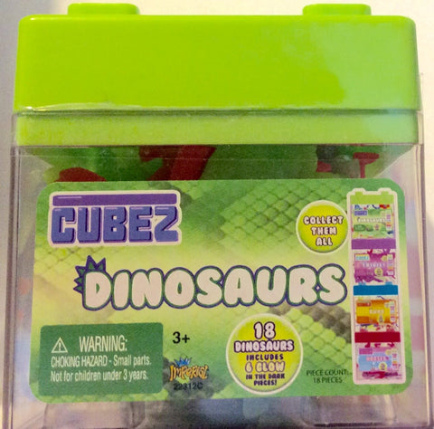 Cubez Play Dinosaur Set of 18 Dinosaurs With 6 Glow In The Dark