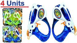 JA-RU Power Shot Water Gun (4 Guns) Aqua Blast | Item #258-2