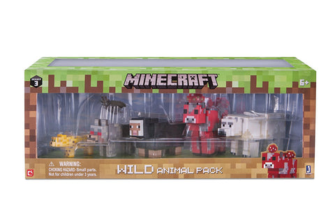 Minecraft Wild Animal Action Figure (6 Pack)