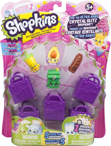 Shopkins Doll Collection, 5 Pack-Season 2
