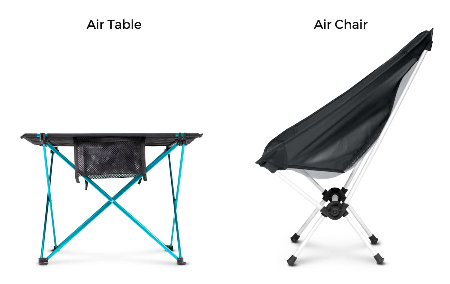 Air Chair + Air Table the perfect match for your camp
