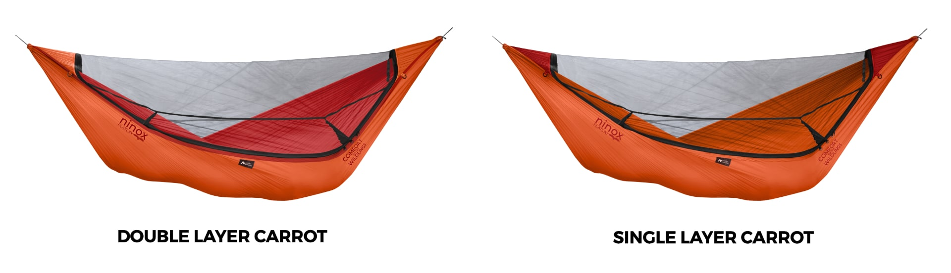 Ninox Double Layer vs. Single Layer Hammock in Carrot!